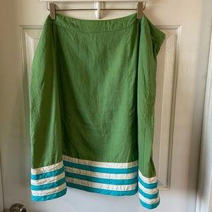 Boden | Green Linen Skirt